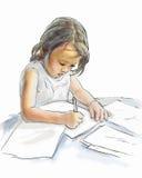 απασχολημένο κορίτσι Στοκ φωτογραφία με δικαίωμα ελεύθερης χρήσης
