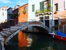 Απασχολήστε τη γέφυρα στη Βενετία, Ιταλία Στοκ Εικόνες