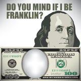 Απασχολείτε εάν το Ι είναι ο Franklin απεικόνιση αποθεμάτων