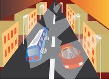 Απασχολημένος αυτοκινητόδρομος απεικόνιση αποθεμάτων