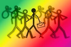 Απασχόληση και ανεργία - απεικόνιση έννοιας ελεύθερη απεικόνιση δικαιώματος
