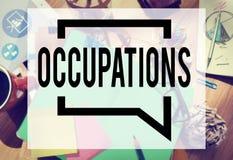 Απασχόληση εργασίας σταδιοδρομίας επαγγελμάτων που μισθώνει προσλαμβάνοντας την έννοια Στοκ Φωτογραφίες