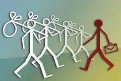 Απασχόληση και ανεργία Στοκ εικόνα με δικαίωμα ελεύθερης χρήσης
