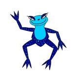 Απεικονίσεις, εξωτικός μπλε βάτραχος Στοκ Εικόνες