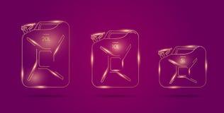 Απεικονίσεις μεταλλικών κουτιών πετρελαίου, γραμμικός γραφικός στο ρόδινο υπόβαθρο απεικόνιση αποθεμάτων