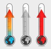 Απεικονίσεις της παγκόσμιας αύξησης της θερμοκρασίας λόγω του φαινομένου του θερμοκηπίου Στοκ εικόνες με δικαίωμα ελεύθερης χρήσης