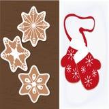Απεικονίσεις των μπισκότων Χριστουγέννων Στοκ Εικόνα