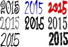 2015 απεικονίσεις Στοκ Φωτογραφίες