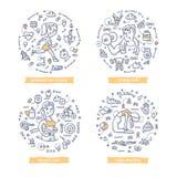 Απεικονίσεις Doodle ικανότητας ελεύθερη απεικόνιση δικαιώματος