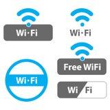 Απεικονίσεις WI-Fi Στοκ Εικόνες