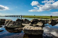 Απεικονίστε τα σύννεφα και τους βράχους Στοκ φωτογραφία με δικαίωμα ελεύθερης χρήσης