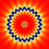 Απεικονίστε την κόκκινη μπλε floral σύσταση σχεδίων απεικόνιση αποθεμάτων