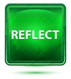 Απεικονίστε το ανοικτό πράσινο τετραγωνικό κουμπί νέου ελεύθερη απεικόνιση δικαιώματος
