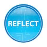 Απεικονίστε το floral μπλε στρογγυλό κουμπί διανυσματική απεικόνιση