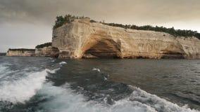 Απεικονισμένοι βράχοι εθνικό Lakeshore απόθεμα βίντεο