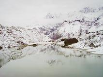 Απεικονισμένος στα βουνά Στοκ Εικόνες
