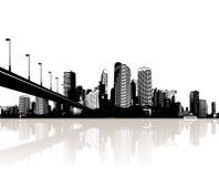 απεικονισμένο πόλη ύδωρ ελεύθερη απεικόνιση δικαιώματος