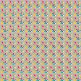 Απεικόνιση άνευ ραφής με την εικόνα των βουρτσών με τα χρώματα και των κτυπημάτων βουρτσών σε ένα γκρίζο υπόβαθρο Στοκ φωτογραφία με δικαίωμα ελεύθερης χρήσης