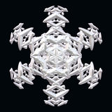 Απεικόνιση άσπρο snowflake Στοκ Εικόνα