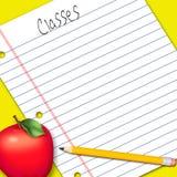 Απεικόνιση, έγγραφο σημειώσεων/σχολική εργασία Στοκ εικόνα με δικαίωμα ελεύθερης χρήσης