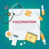 Απεικόνιση έννοιας εμβολιασμού διανυσματική απεικόνιση