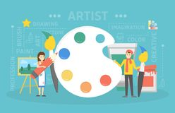 Απεικόνιση έννοιας καλλιτεχνών απεικόνιση αποθεμάτων
