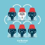 Απεικόνιση έννοιας πρόκλησης κάδων πάγου νόσου του Alsheimer Στοκ φωτογραφία με δικαίωμα ελεύθερης χρήσης