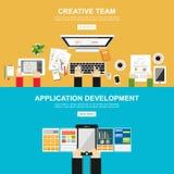 Απεικόνιση έννοιας συνεδρίασης Επίπεδο σχέδιο Απεικόνιση έννοιας συζήτησης Έννοια 'brainstorming' Καθορίστε το συμπέρασμα απεικόνιση αποθεμάτων