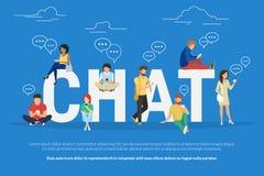 Απεικόνιση έννοιας συνομιλίας Στοκ φωτογραφία με δικαίωμα ελεύθερης χρήσης