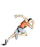 Απεικόνιση αθλητισμού, αθλητής που αθλητισμός πρακτικών Στοκ εικόνες με δικαίωμα ελεύθερης χρήσης