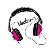 Απεικόνιση ακουστικών Στοκ εικόνες με δικαίωμα ελεύθερης χρήσης