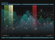 Απεικόνιση ανάλυσης στοιχείων Οπτική πολυπλοκότητα στοιχείων Κοινωνική αντιπροσώπευση δικτύων Στοκ φωτογραφία με δικαίωμα ελεύθερης χρήσης