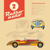 Απεικόνιση: αναδρομικό αυτοκίνητο, Horch, εκλεκτής ποιότητας αυτοκίνητο απεικόνιση αποθεμάτων