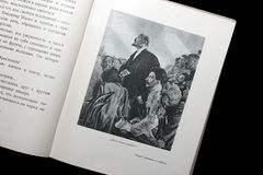 Απεικόνιση από το σοβιετικό βιβλίο για τα παιδιά με τις εικόνες Λένιν και του Στάλιν Στοκ Εικόνα