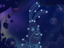 Απεικόνιση βιβλίων παιδιών Αστερισμός κουνελιών Στοκ φωτογραφία με δικαίωμα ελεύθερης χρήσης
