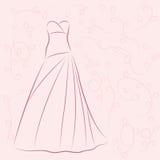 Απεικόνιση γαμήλιων φορεμάτων Στοκ εικόνες με δικαίωμα ελεύθερης χρήσης