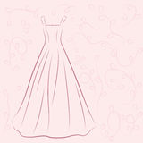 Απεικόνιση γαμήλιων φορεμάτων Στοκ φωτογραφίες με δικαίωμα ελεύθερης χρήσης