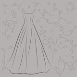 Απεικόνιση γαμήλιων φορεμάτων Στοκ φωτογραφία με δικαίωμα ελεύθερης χρήσης