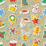 Απεικόνιση για τα Χριστούγεννα και νέα απεικόνιση σχεδίου έτους επίπεδη διανυσματική applique Στοκ Φωτογραφίες