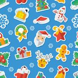Απεικόνιση για τα Χριστούγεννα και νέα απεικόνιση σχεδίου έτους επίπεδη διανυσματική applique Στοκ εικόνα με δικαίωμα ελεύθερης χρήσης