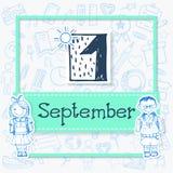 Απεικόνιση για την 1η Σεπτεμβρίου διακοπών Στοκ Εικόνες