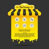Απεικόνιση για τη διαφήμιση του μελιού Στοκ Εικόνες