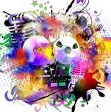 Απεικόνιση γοητείας τέχνης μουσικής grunge Στοκ Εικόνα