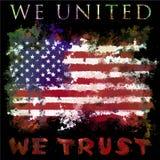 Απεικόνιση γραμμάτων Τ αμερικανικών σημαιών ελεύθερη απεικόνιση δικαιώματος