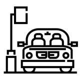 Απεικόνιση γραμμών υπαίθριων σταθμών αυτοκινήτων απεικόνιση αποθεμάτων