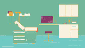 Απεικόνιση γραφείων γιατρών s Στοκ Εικόνες