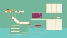 Απεικόνιση γραφείων γιατρών s ελεύθερη απεικόνιση δικαιώματος