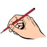 Απεικόνιση γραψίματος χεριών με το μολύβι Στοκ Εικόνα