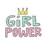 Απεικόνιση δύναμης κοριτσιών Στοκ φωτογραφία με δικαίωμα ελεύθερης χρήσης
