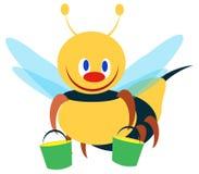 απεικόνιση δύο μελισσών διανυσματική απεικόνιση